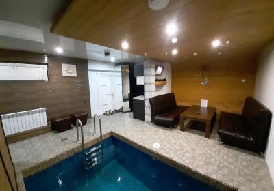 Сауна на дровах,с бассейном в гостевом доме в Дубках (новая)